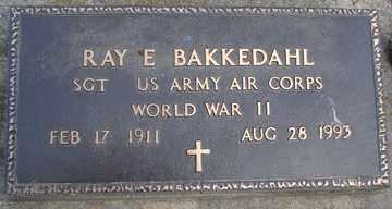 BAKKEDAHL, RAY E. - Minnehaha County, South Dakota | RAY E. BAKKEDAHL - South Dakota Gravestone Photos
