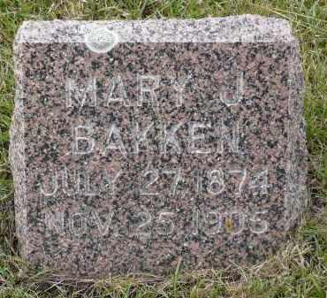 BAKKEN, MARY J. - Minnehaha County, South Dakota | MARY J. BAKKEN - South Dakota Gravestone Photos