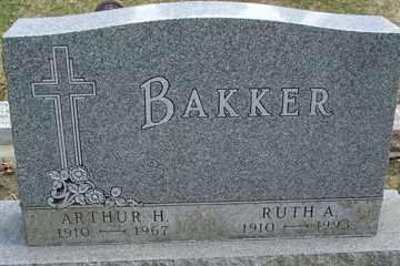 BAKKER, ARTHUR H. - Minnehaha County, South Dakota | ARTHUR H. BAKKER - South Dakota Gravestone Photos