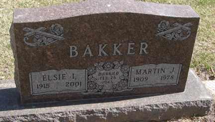 BAKKER, MARTIN J. - Minnehaha County, South Dakota | MARTIN J. BAKKER - South Dakota Gravestone Photos