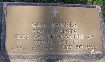 BAKKER, GUY - Minnehaha County, South Dakota | GUY BAKKER - South Dakota Gravestone Photos