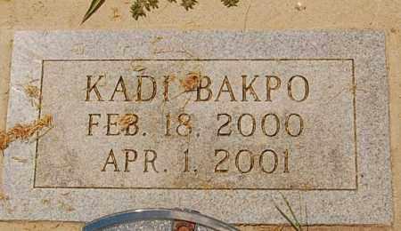 BAKPO, KADI - Minnehaha County, South Dakota | KADI BAKPO - South Dakota Gravestone Photos