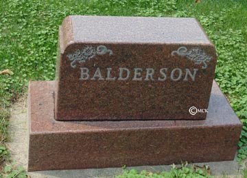BALDERSON, FAMILY HEADSTONE - Minnehaha County, South Dakota | FAMILY HEADSTONE BALDERSON - South Dakota Gravestone Photos