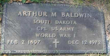 BALDWIN, ARTHUR M. - Minnehaha County, South Dakota   ARTHUR M. BALDWIN - South Dakota Gravestone Photos