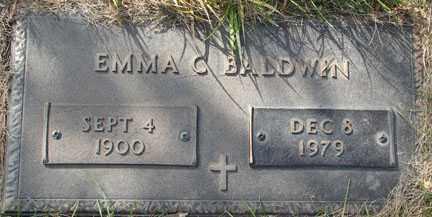 BALDWIN, EMMA C. - Minnehaha County, South Dakota | EMMA C. BALDWIN - South Dakota Gravestone Photos