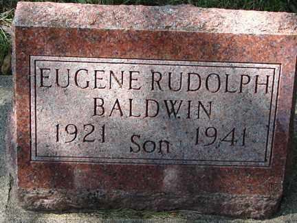 BALDWIN, EUGENE RUDOLPH - Minnehaha County, South Dakota | EUGENE RUDOLPH BALDWIN - South Dakota Gravestone Photos