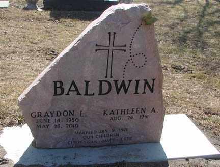 BALDWIN, KATHLEEN A. - Minnehaha County, South Dakota | KATHLEEN A. BALDWIN - South Dakota Gravestone Photos