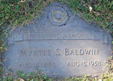 BALDWIN, MYRTLE S. - Minnehaha County, South Dakota | MYRTLE S. BALDWIN - South Dakota Gravestone Photos
