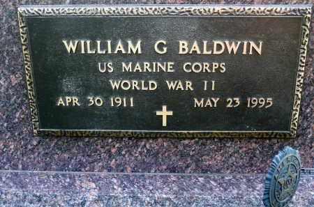 BALDWIN, WILLIAM G. - Minnehaha County, South Dakota   WILLIAM G. BALDWIN - South Dakota Gravestone Photos