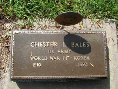 BALES, CHESTER L. - Minnehaha County, South Dakota | CHESTER L. BALES - South Dakota Gravestone Photos