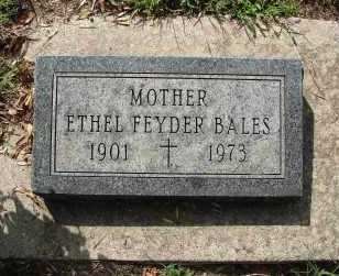 BALES, ETHEL FEYDER - Minnehaha County, South Dakota | ETHEL FEYDER BALES - South Dakota Gravestone Photos