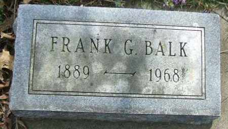 BALK, FRANK G. - Minnehaha County, South Dakota | FRANK G. BALK - South Dakota Gravestone Photos
