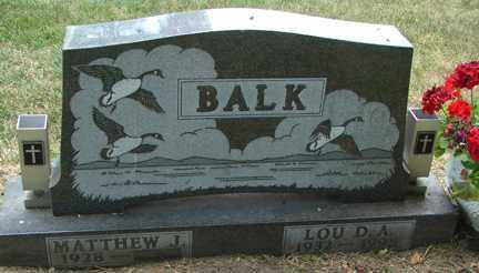 BALK, LOU D.A. - Minnehaha County, South Dakota | LOU D.A. BALK - South Dakota Gravestone Photos