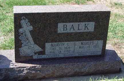 BALK, MARLYS J. - Minnehaha County, South Dakota | MARLYS J. BALK - South Dakota Gravestone Photos