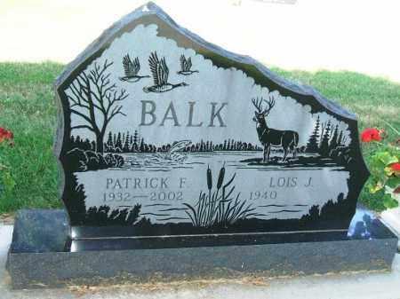BALK, PATRICK F. - Minnehaha County, South Dakota   PATRICK F. BALK - South Dakota Gravestone Photos