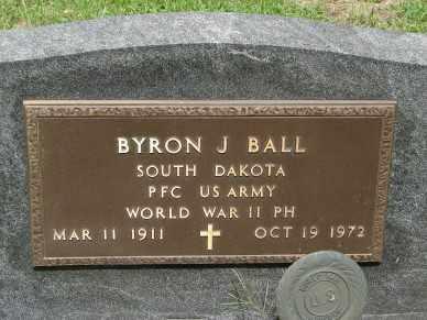 BALL, BYRON J. - Minnehaha County, South Dakota   BYRON J. BALL - South Dakota Gravestone Photos