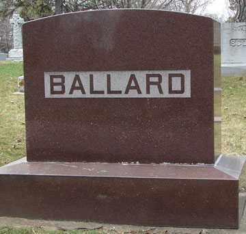 BALLARD, FAMILY MARKER - Minnehaha County, South Dakota   FAMILY MARKER BALLARD - South Dakota Gravestone Photos