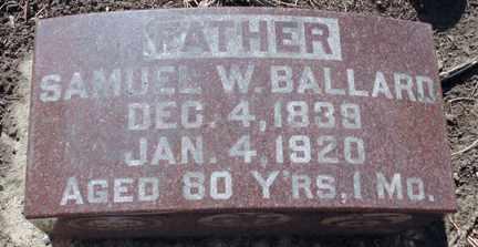 BALLARD, SAMUEL W. - Minnehaha County, South Dakota | SAMUEL W. BALLARD - South Dakota Gravestone Photos