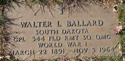 BALLARD, WALTER L. (WWI0 - Minnehaha County, South Dakota   WALTER L. (WWI0 BALLARD - South Dakota Gravestone Photos