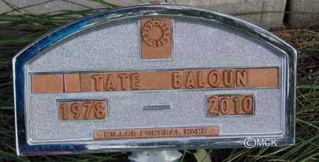 BALOUN, TATE - Minnehaha County, South Dakota | TATE BALOUN - South Dakota Gravestone Photos