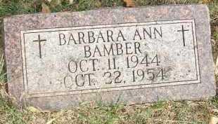 BAMBER, BARBARA ANN - Minnehaha County, South Dakota | BARBARA ANN BAMBER - South Dakota Gravestone Photos