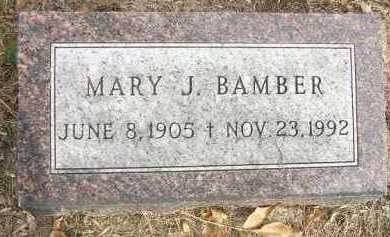 BAMBER, MARY J. - Minnehaha County, South Dakota   MARY J. BAMBER - South Dakota Gravestone Photos