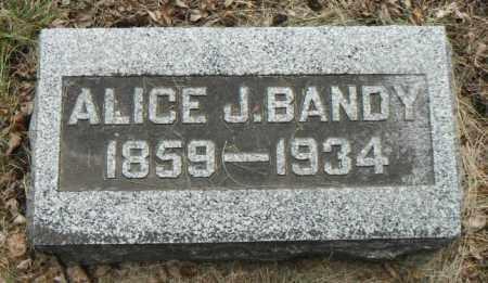 BANDY, ALICE J. - Minnehaha County, South Dakota   ALICE J. BANDY - South Dakota Gravestone Photos
