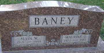 BANEY, ALVIN  W. - Minnehaha County, South Dakota | ALVIN  W. BANEY - South Dakota Gravestone Photos