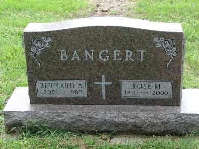 BANGERT, BERNARD A. - Minnehaha County, South Dakota | BERNARD A. BANGERT - South Dakota Gravestone Photos
