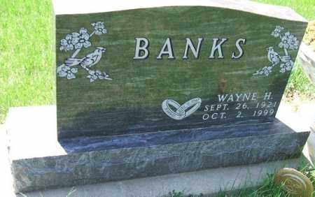 BANKS, WAYNE H. - Minnehaha County, South Dakota | WAYNE H. BANKS - South Dakota Gravestone Photos