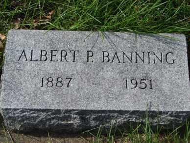 BANNING, ALBERT P - Minnehaha County, South Dakota | ALBERT P BANNING - South Dakota Gravestone Photos