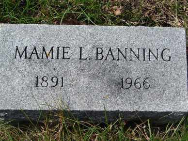 BANNING, MAMIE L. - Minnehaha County, South Dakota | MAMIE L. BANNING - South Dakota Gravestone Photos