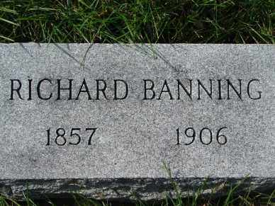 BANNING, RICHARD - Minnehaha County, South Dakota | RICHARD BANNING - South Dakota Gravestone Photos