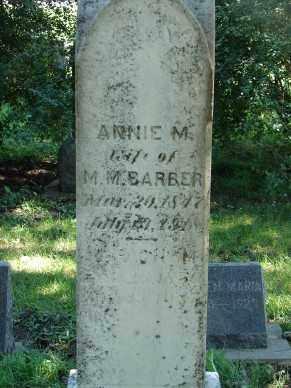 BARBER, ANNIE M. - Minnehaha County, South Dakota | ANNIE M. BARBER - South Dakota Gravestone Photos