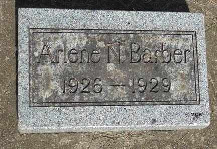 BARBER, ARLENE N. - Minnehaha County, South Dakota   ARLENE N. BARBER - South Dakota Gravestone Photos