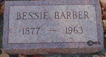 BARBER, BESSIE - Minnehaha County, South Dakota   BESSIE BARBER - South Dakota Gravestone Photos