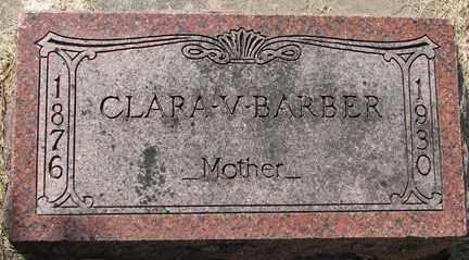 BARBER, CLARA V. - Minnehaha County, South Dakota   CLARA V. BARBER - South Dakota Gravestone Photos