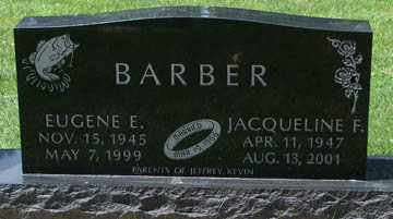 BARBER, JACQUELINE F. - Minnehaha County, South Dakota | JACQUELINE F. BARBER - South Dakota Gravestone Photos