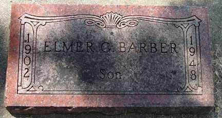 BARBER, ELMER G. - Minnehaha County, South Dakota | ELMER G. BARBER - South Dakota Gravestone Photos