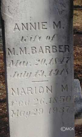 BARBER, MARION M. - Minnehaha County, South Dakota | MARION M. BARBER - South Dakota Gravestone Photos
