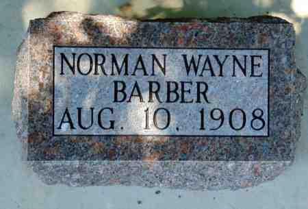BARBER, NORMAN WAYNE - Minnehaha County, South Dakota | NORMAN WAYNE BARBER - South Dakota Gravestone Photos