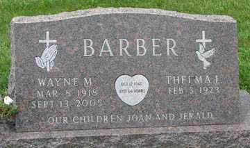BARBER, THELMA I. - Minnehaha County, South Dakota | THELMA I. BARBER - South Dakota Gravestone Photos