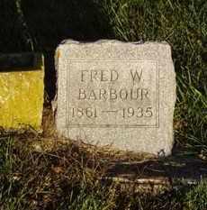 BARBOUR, FRED W. - Minnehaha County, South Dakota | FRED W. BARBOUR - South Dakota Gravestone Photos