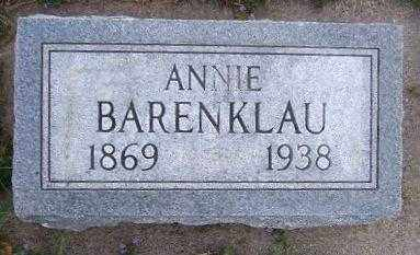 BARENKLAU, ANNIE - Minnehaha County, South Dakota   ANNIE BARENKLAU - South Dakota Gravestone Photos