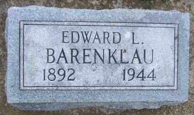 BARENKLAU, EDWARD L. - Minnehaha County, South Dakota | EDWARD L. BARENKLAU - South Dakota Gravestone Photos