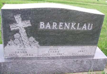 BARENKLAU, JAMES - Minnehaha County, South Dakota | JAMES BARENKLAU - South Dakota Gravestone Photos