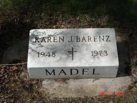 BARENZ, KAREN J. - Minnehaha County, South Dakota   KAREN J. BARENZ - South Dakota Gravestone Photos
