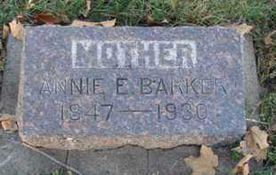 BARKER, ANNIE E. - Minnehaha County, South Dakota | ANNIE E. BARKER - South Dakota Gravestone Photos