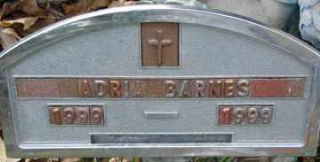 BARNES, ADRIA - Minnehaha County, South Dakota   ADRIA BARNES - South Dakota Gravestone Photos