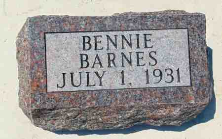 BARNES, BENNIE - Minnehaha County, South Dakota | BENNIE BARNES - South Dakota Gravestone Photos
